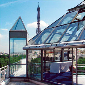 Pyramid Roof Top in Paris, France
