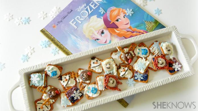 DIY tutorial: Disney's Frozen-inspired pretzel snacks