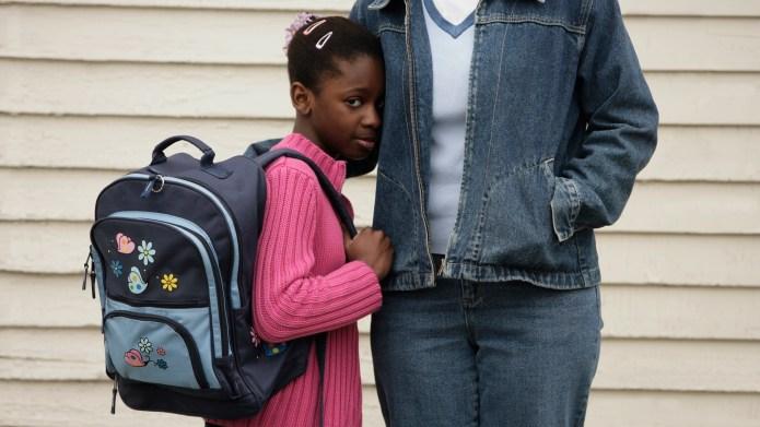 Shy schoolgirl