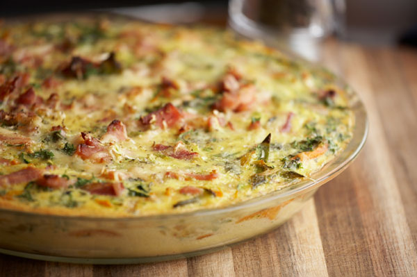 Quiche with bacon