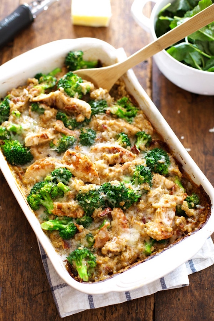13 Make-Ahead Freezer Meals for Nights When You Just Can't: Creamy Chicken, Quinoa, and Broccoli Casserole