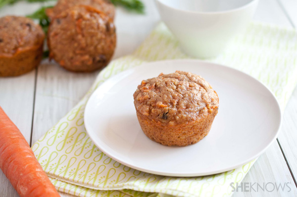 Quinoa carrot cake breakfast muffins