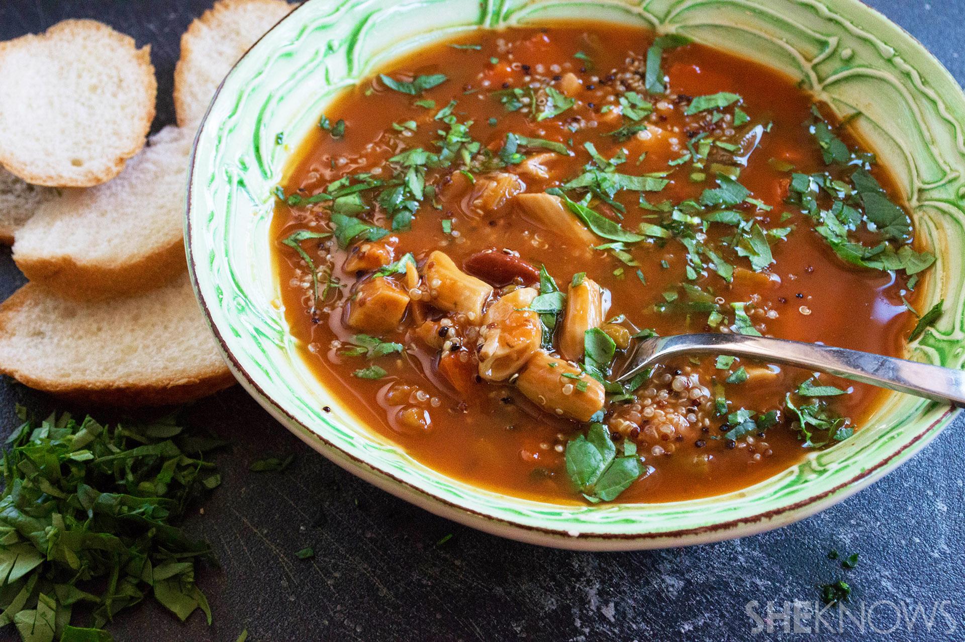 quinoa pasta soup