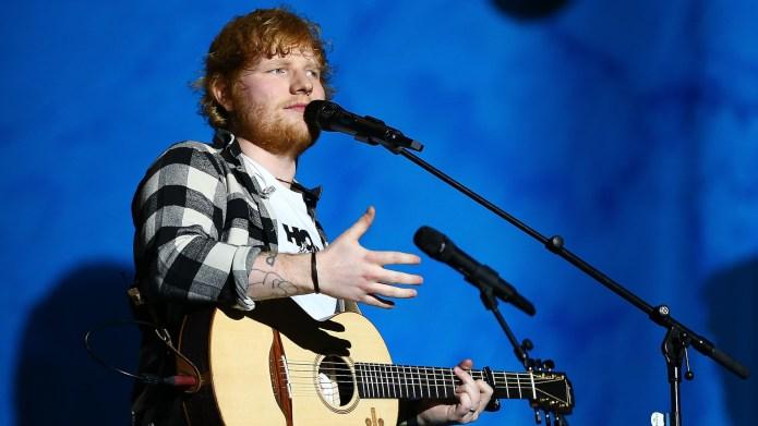 Ed Sheeran on the opening night