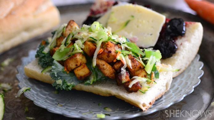 This Vietnamese banh-mi sandwich has a