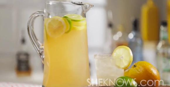 Sexy lemonade punch cocktail is your