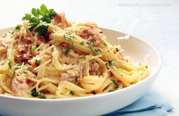 Tonight's dinner: Pasta Carbonara