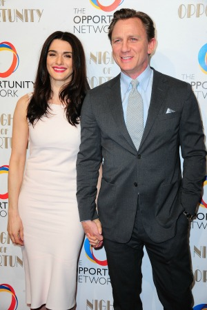 Daniel Craig and his wife Rachel Weisz are honored for their charity work