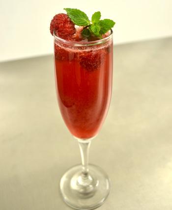 Raspberry Mint Rosé Bellini