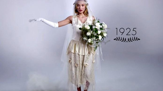 Wedding dress fashion has changed a