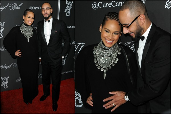 Alicia Keys and pregnant celebrity red carpet fashion