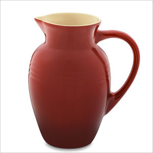 Red stoneware pitcher