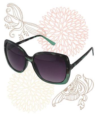 Retro green-hued sunglasses, Forever 21, $5.80