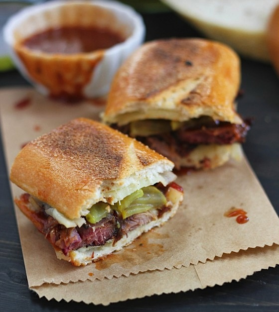 burnt ends grilled cheese