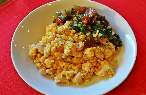 Tonight's Dinner: Couscous and beans with