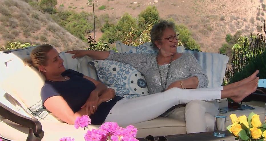 Yolanda Foster and her mom