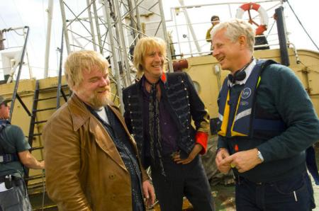 Philip Seymour Hoffman, Rhys Ifys and Richard Curtis on deck