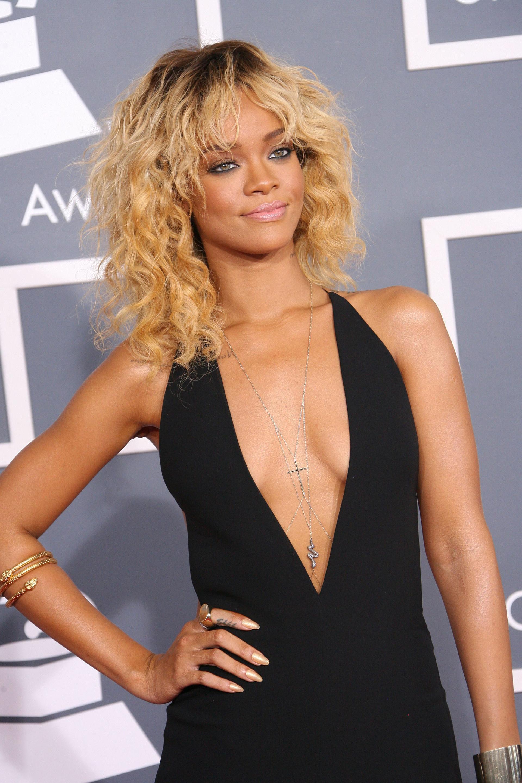 Rihanna wearing a body chain