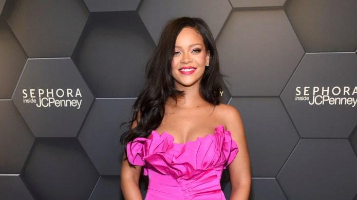 Rihanna attends Fenty Beauty's 1-year anniversary