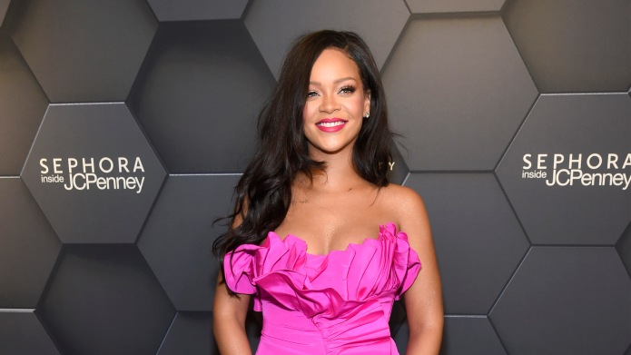 Rihanna attends Fenty Beauty's 1-year anniversary