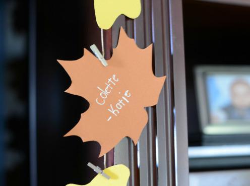 Thanksgiving craft: Gratitude garland
