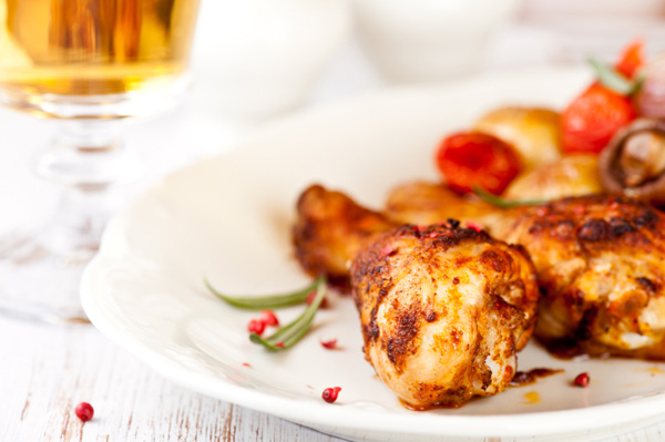 Roasted chicken with beer