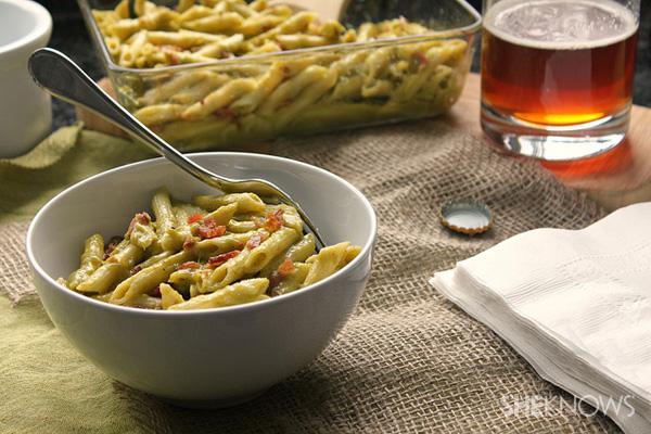 Roasted poblano macaroni and cheese recipe