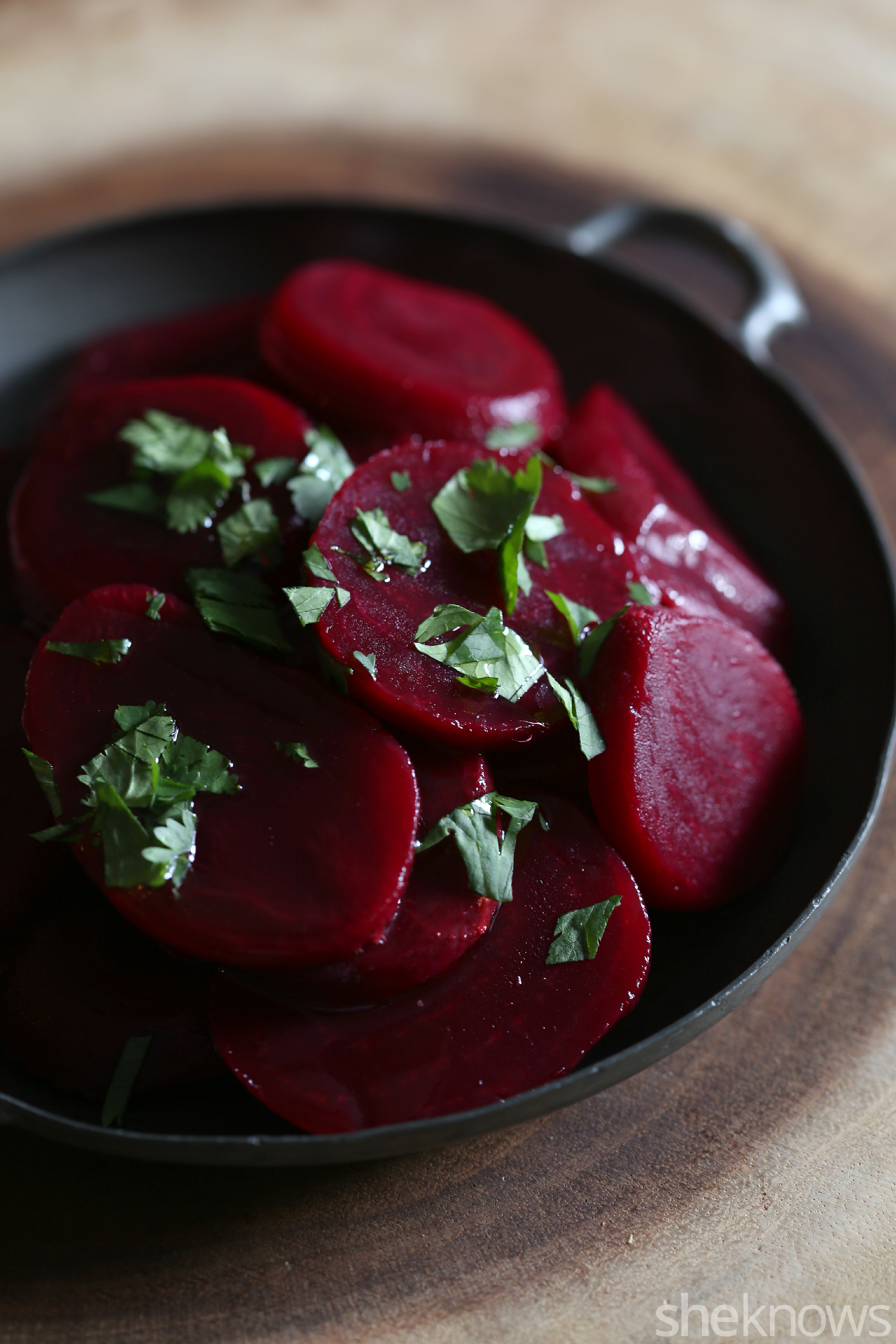 roasted beets with cumin and cilantro