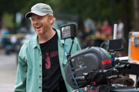 Ron Howard on the set of The Dilemma