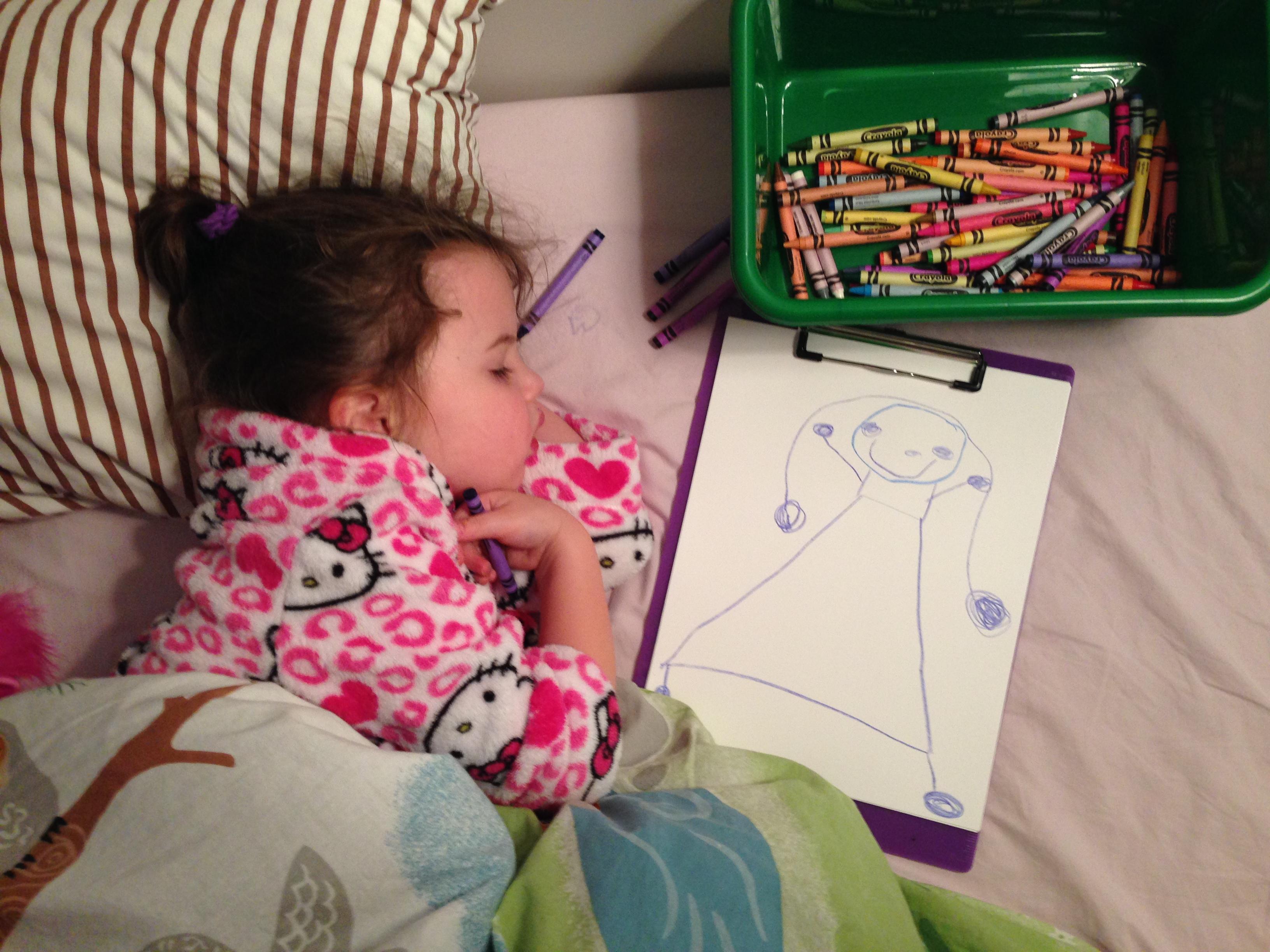 Roozle draws herself to sleep 02