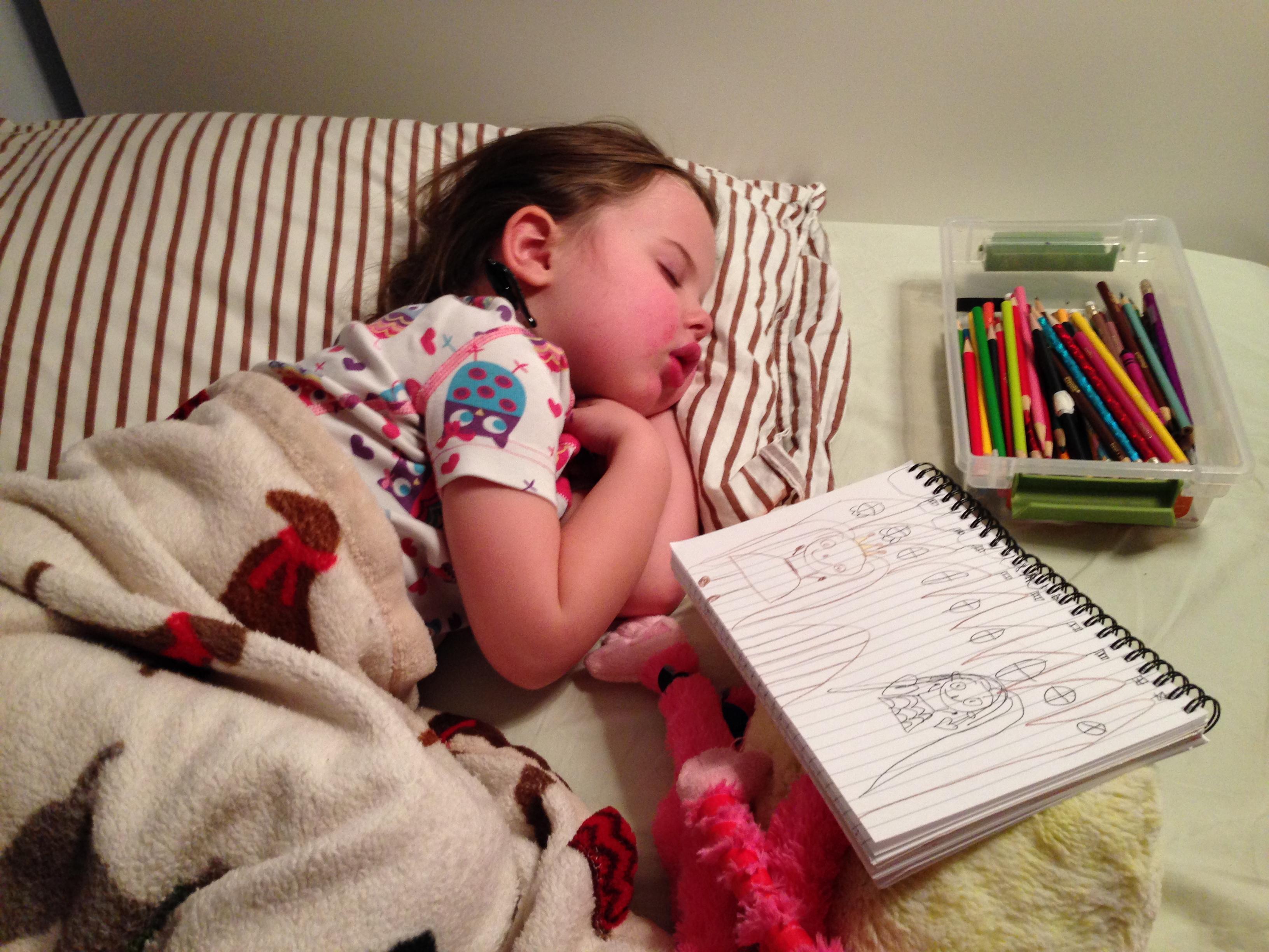 Roozle draws herself to sleep 03