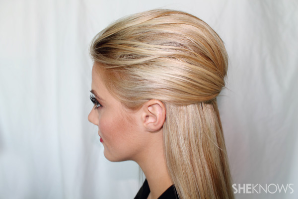 Rosie Huntington-Whiteley Met Gala hairstlye tutorial