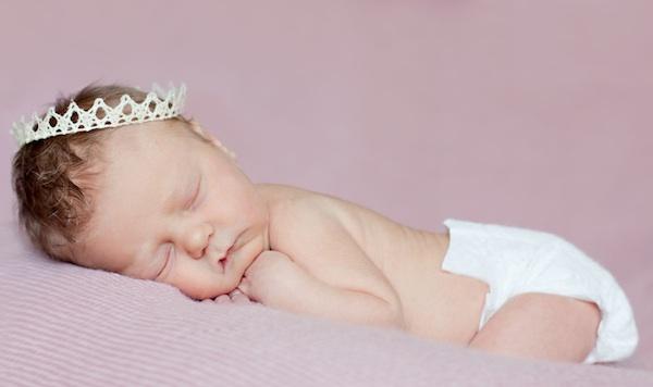 Royal sleeping baby
