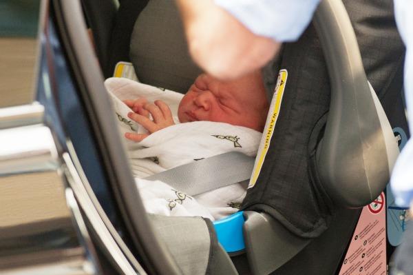 royal baby in car seat