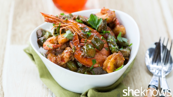Asian shrimp stir-fry in 30 minutes