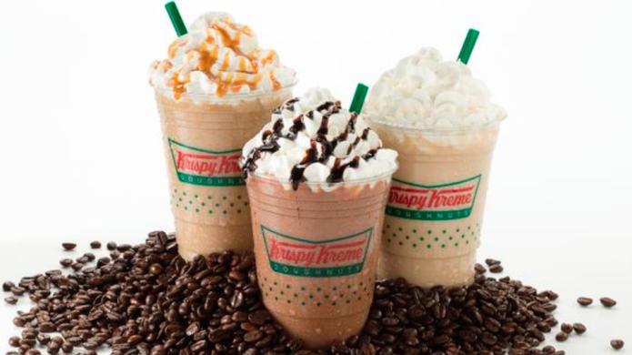 Krispy Kreme Frozen Lattes are a