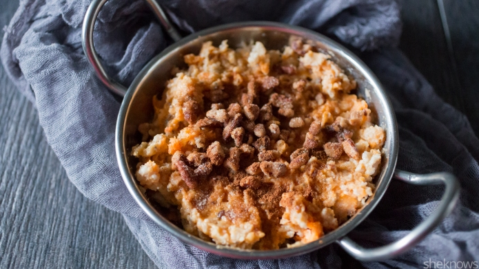 Sweet potato pie oatmeal — like