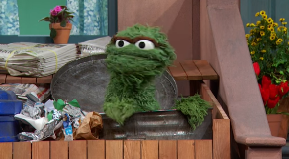 When Oscar the Grouch gets this