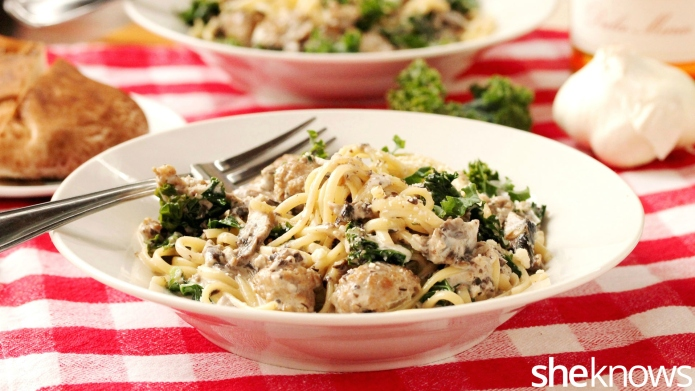 One-Pot Wonder: Creamy mushroom-sausage pasta is