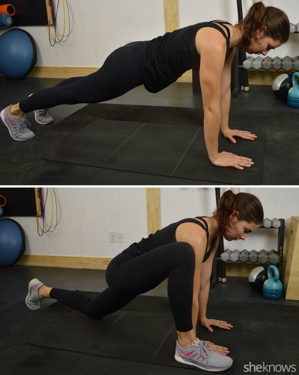 Runner's hip stretch, active stretching