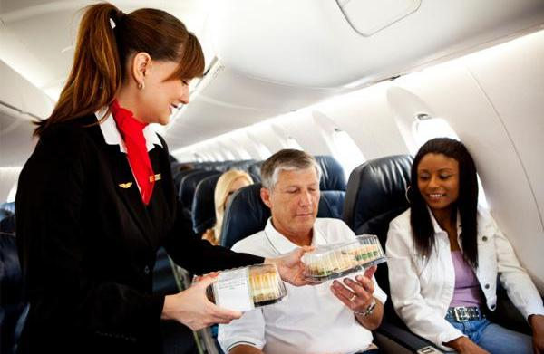 Healthiest picks for airline food