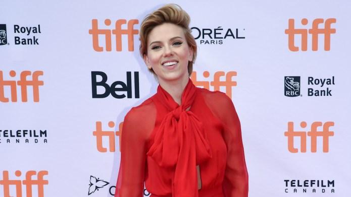 Scarlett Johansson attending the premiere of