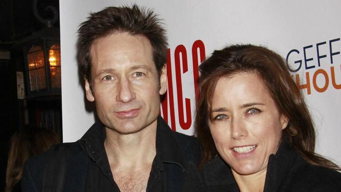 David Duchovny and Téa Leoni officially