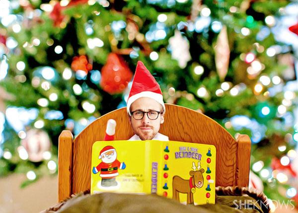 Ryan Gosling Elf on the Shelf meme