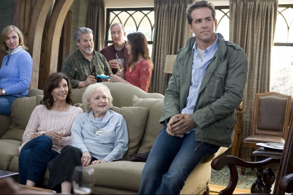 Mary Steenbergen and Betty White help Ryan Reynolds in The Proposal