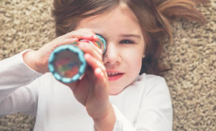 This DIY Kaleidoscope Craft for Kids