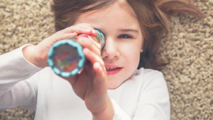 This DIY Kaleidoscope Craft for Kids