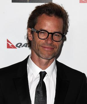 Shy, sexy Guy Pearce pumps up