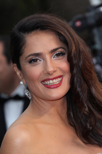 Salma Hayak Thick Hair