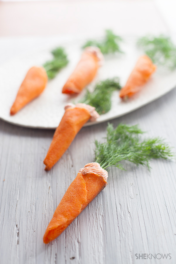 """Cute """"carrot"""" appetizers for Easter brunch"""
